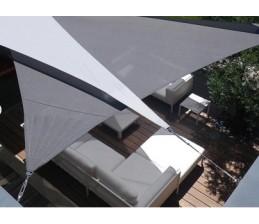 Voile d'ombrage Triangle ARDOISE 4 x 4 x 4 Mètres
