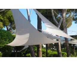 Voile d'ombrage triangle ARDOISE 5 x 5 x 5 Mètres