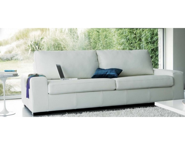Canap cuir 3 places marius convertible grand confort - Canape convertible cuir 3 places ...