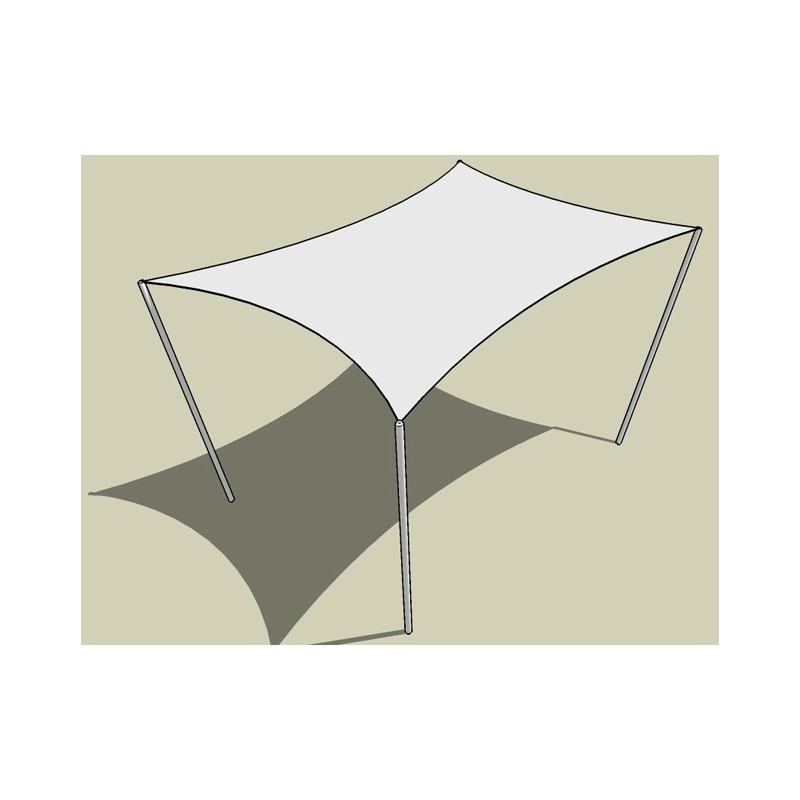 Voile d 39 ombrage blanche pour ombrager terrasse ou jardin - Voile ombrage triangle rectangle ...