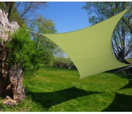 Voile d'ombrage Rectangle VERT ANIS 3 x 4,5 Mètres