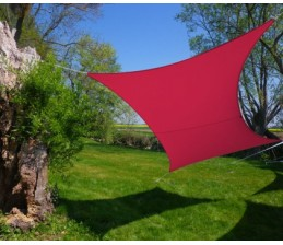 Voile d'ombrage Rectangle FRAMBOISE 3 x 4,5 Mètres