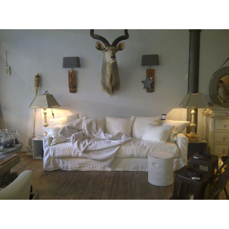Canap en lin biarritz home spirit en vente chez for Housse de canape en lin