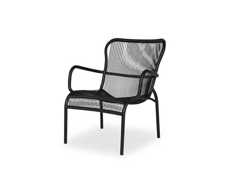 fauteuil bas loop lounge r sine noire pour l 39 ext rieur vincent sheppard int rieur 202. Black Bedroom Furniture Sets. Home Design Ideas