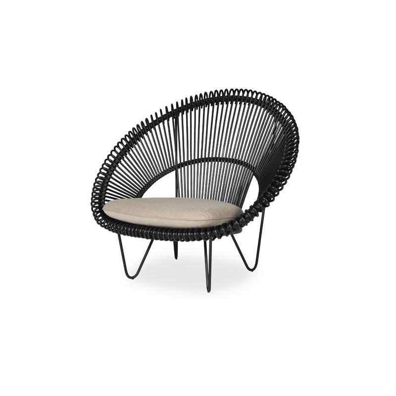 fauteuil cruz cocoon en rotin sans coussin marque. Black Bedroom Furniture Sets. Home Design Ideas