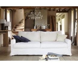 Canapé en lin BISCAROSSE - HOME SPIRIT