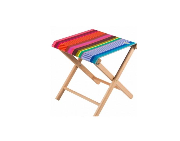 pliant zanzibar tissage de luz repose pied ou table d 39 appoint. Black Bedroom Furniture Sets. Home Design Ideas