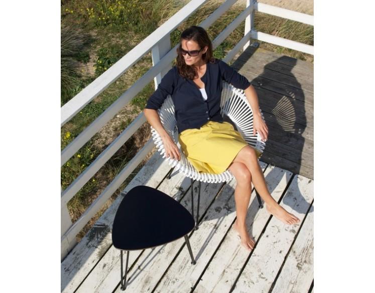 Table basse acier roy 50 cm int rieur ext rieur for Table exterieur largeur 50