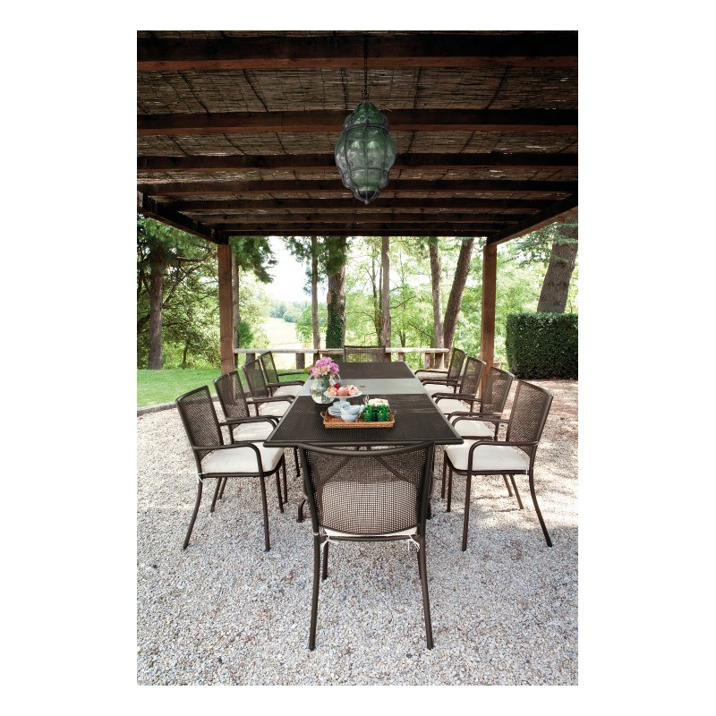 Table de repas extensible de jardin 230 300 x 100 cm for Table de repas design extensible