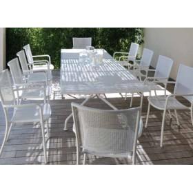 Table de repas extensible de jardin 230 / 300 x 100 cm, ATHENA par EMU