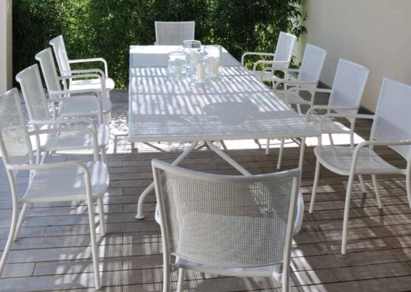 Table de repas extensible de jardin 230 / 300 x 100 cm ...