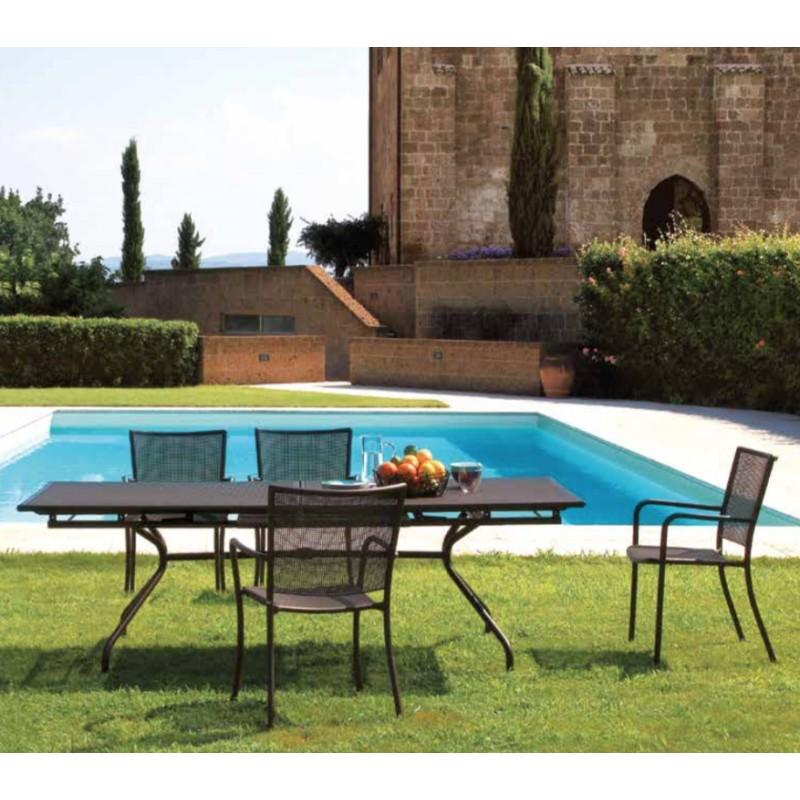Table de repas extensible de jardin 230 300 x 100 cm for Table exterieur 300