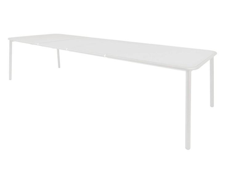 Table de repas extensible YARD 160 ( + 2 allonges de 55 cm) X 97,5 cm - Plateau en aluminium -EMU