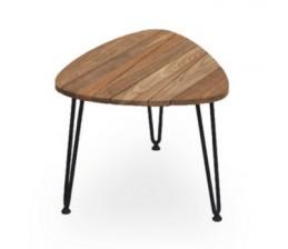 Table basse Teak / acier ROZY 50 cm -VINCENT SHEPPARD