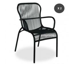 Lot de 2 fauteuils de repas LOOP coloris NOIR - Vincent Sheppard