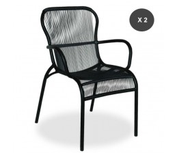 Lot de 2 fauteuils de repas LOOP - Vincent Sheppard