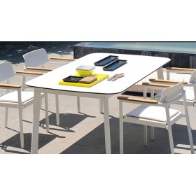 Table SHINE rectangulaire blanche - EMU