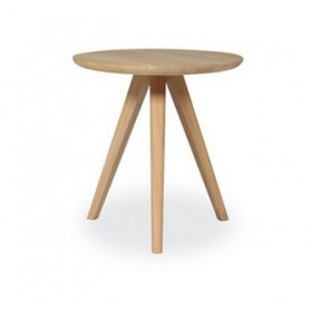 Table d'appoint basse DAN Chêne Diam 45 cm