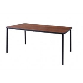 Table de repas marron d'inde YARD 160 x 97 cm - EMU