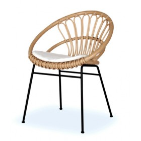 Chaise en rotin KIKI Naturel - ATELIER N/7