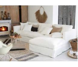 Canapé d'angle en lin NOMAD
