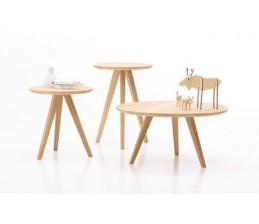 Table d'appoint haute DAN Chêne Diam 45 cm