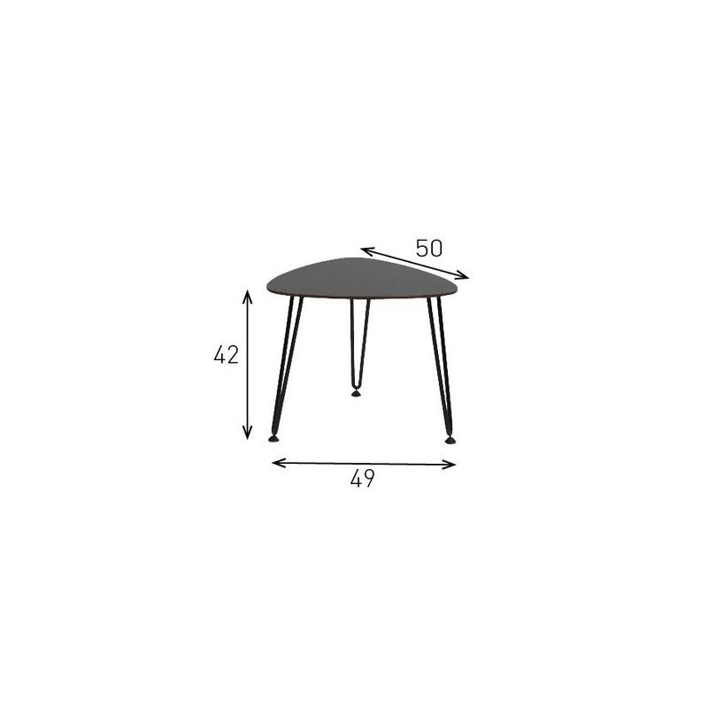 Table basse acier rozy 50 cm int rieur ext rieur by for Table basse hauteur 50 cm
