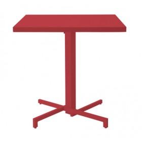 Table carrée pliable MIA 75 x 75 cm - Acier et Aluminium Vernis