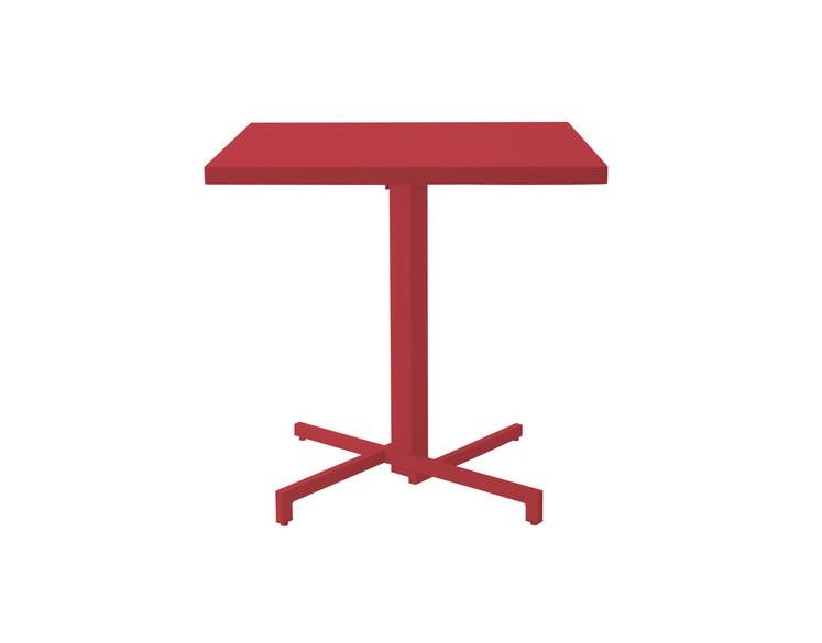 Table ronde pliable MIA Diam 80 cm - Acier et Aluminium Vernis