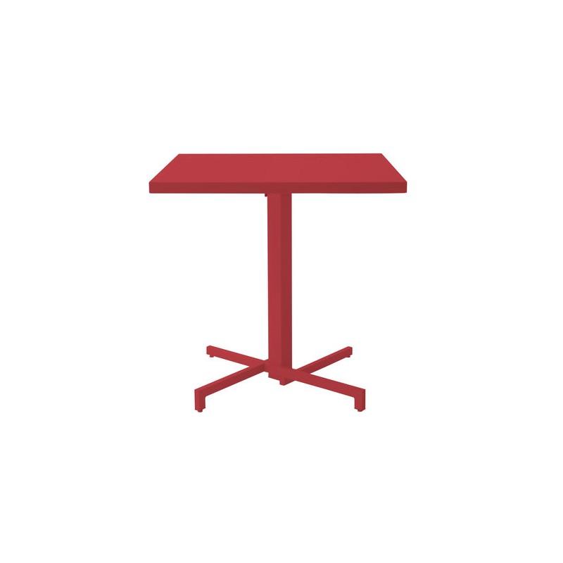 Table ronde 80 cm pliable mia emu for Table carree exterieur aluminium