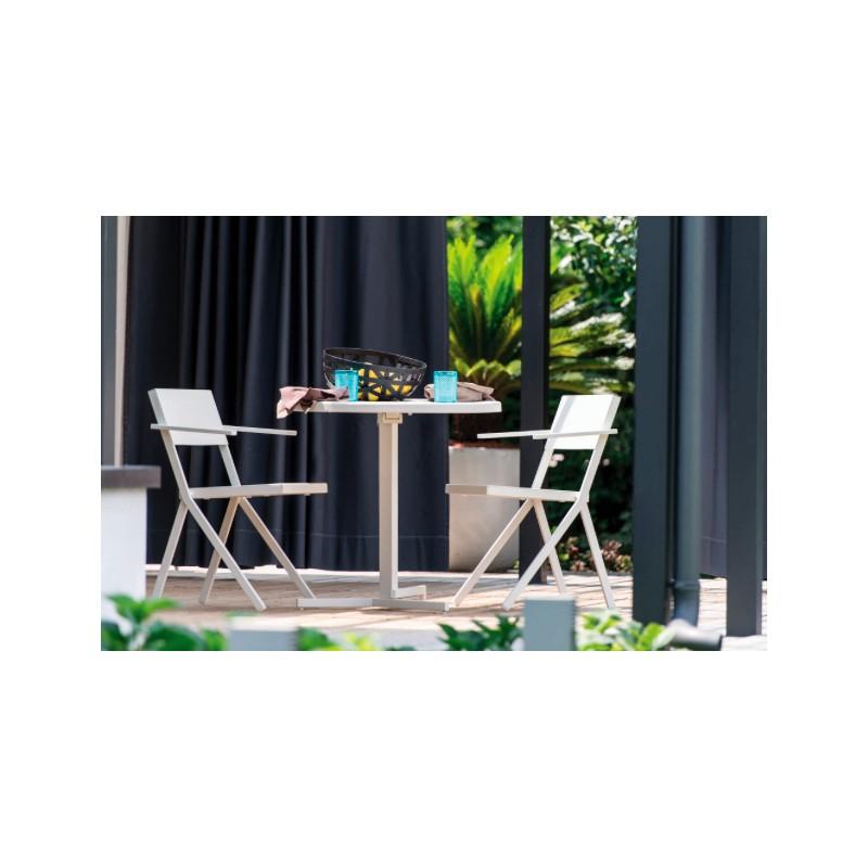 table ronde 80 cm pliable mia emu. Black Bedroom Furniture Sets. Home Design Ideas