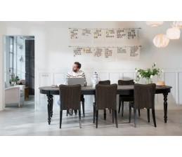 Table ovale Noire VERSAILLES extensible jusqu'à 310 cm