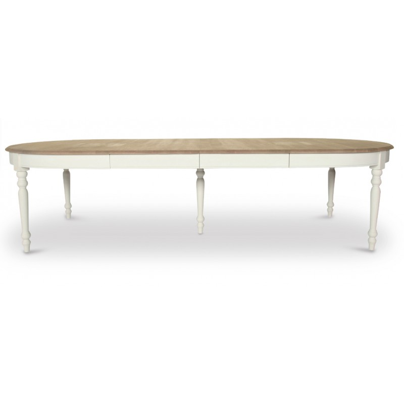 Table ovale versailles extensible jusqu 39 310 cm vincent for Table blanche extensible