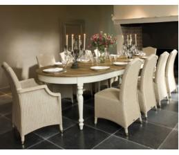 Table ovale Blanche VERSAILLES extensible jusqu'à 310 cm