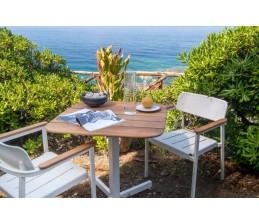 Table de repas SHINE 79 X 79 cm - Plateau Teck