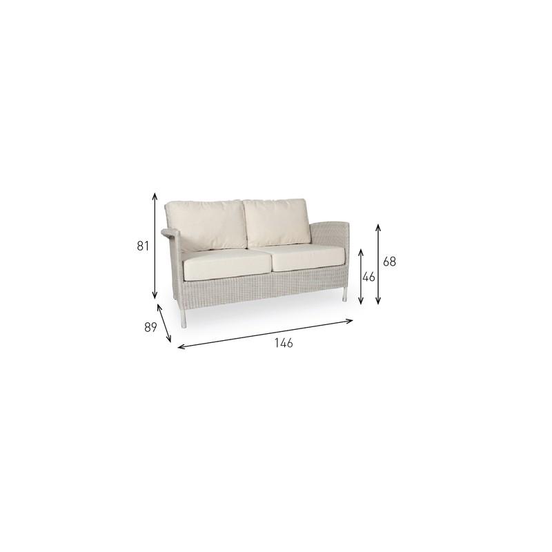 Mobilier de jardin annecy canap d 39 ext rieur safi lounge for Canape d exterieur