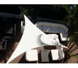 Voile d'ombrage Triangle BLANC 3 x 3 x 3 Mètres