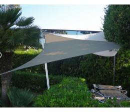Voile d'ombrage Triangle ARDOISE 3 x 3 x 3 Mètres